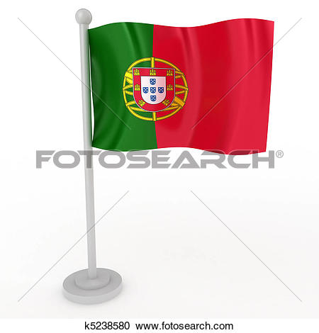 Stock Illustrations of Flag of Portugal k5238580.