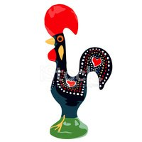 Portuguese Rooster Luck stock vectors.