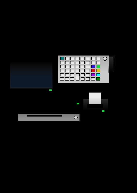 Free Clipart: POS Terminal.