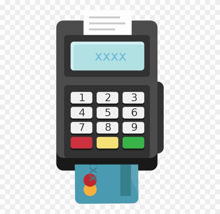 Card Terminal Pos Flat Icon Vector.