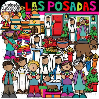 Las Posadas Clipart {Holidays Around the World Clipart}.