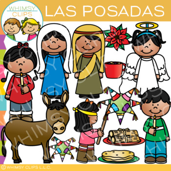 Las Posadas Clip Art {Holidays Around the World Clip Art} by.