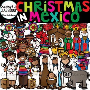 Christmas in Mexico Clipart (Las Posadas clipart).