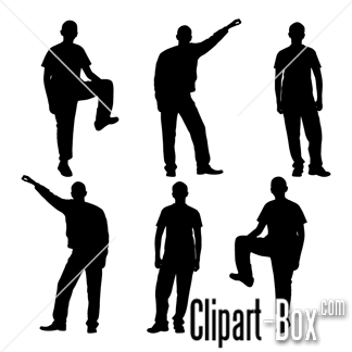 CLIPART STANDING POSE.