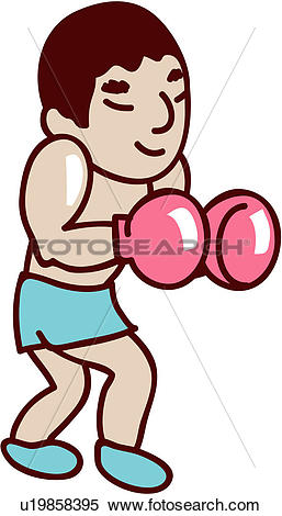 Clipart of posed, player, posing, boxing glove, glove, sports.