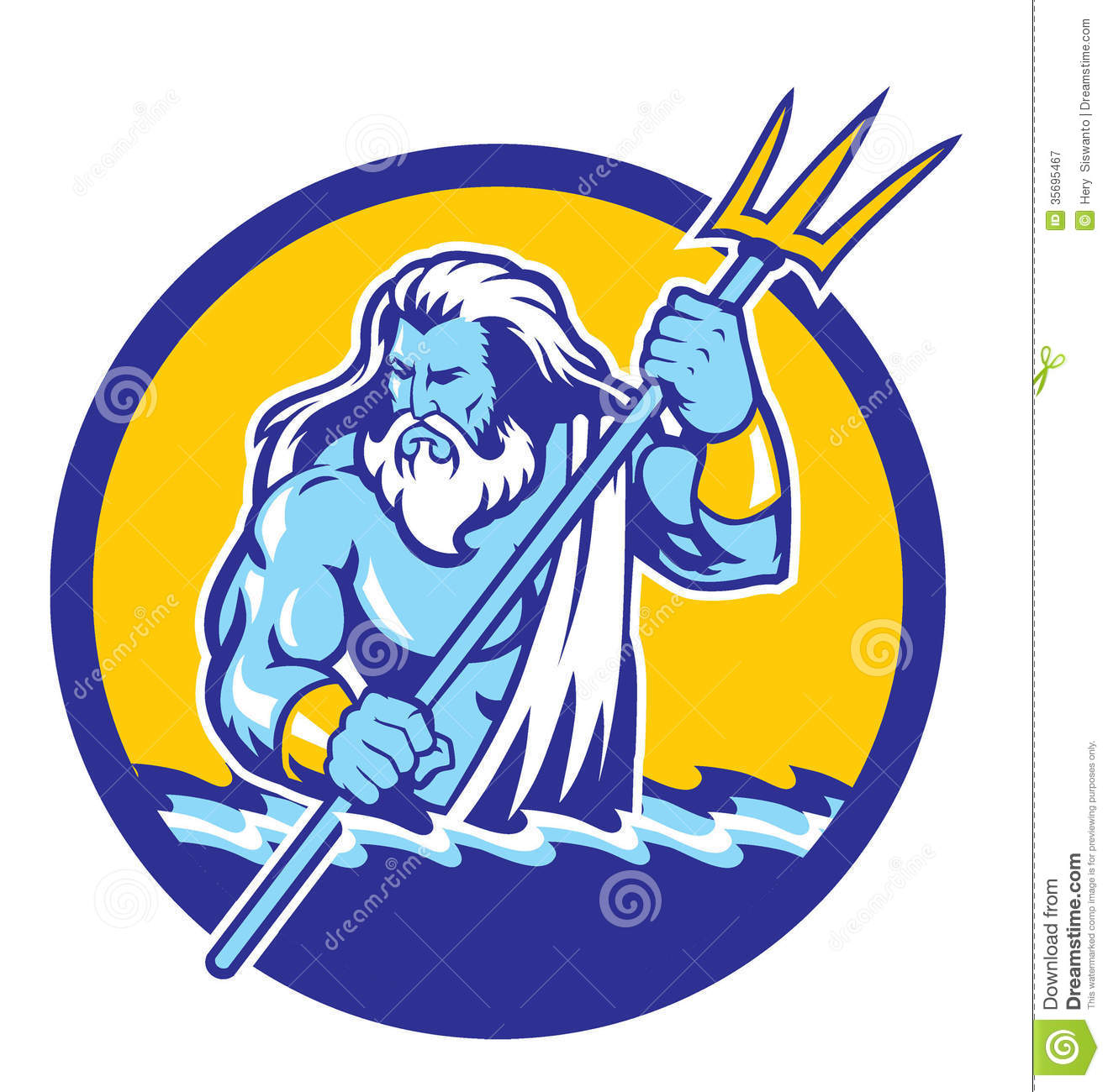 Poseidon Stock Illustrations.