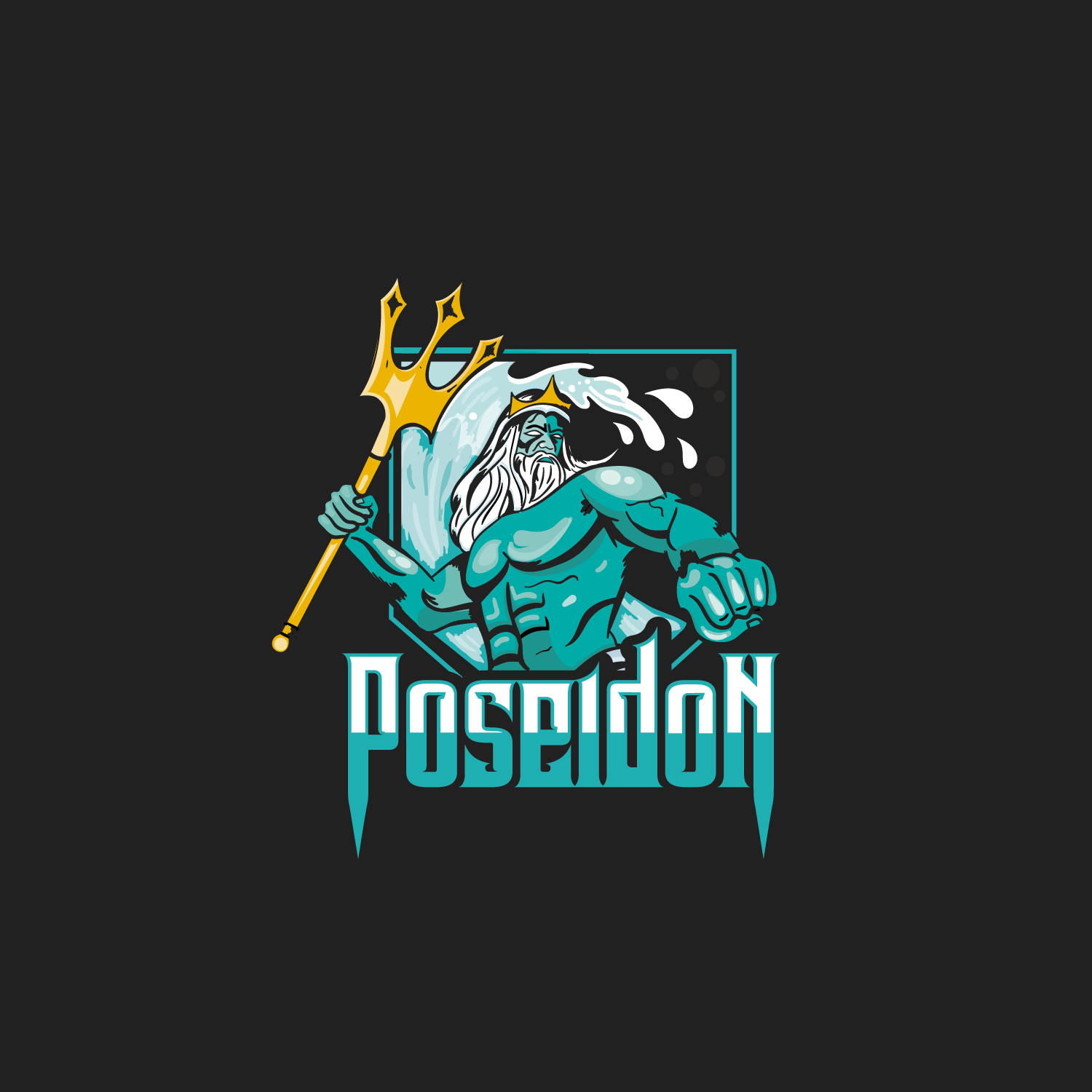 Logo Design for Poseidon by WooW Designs.