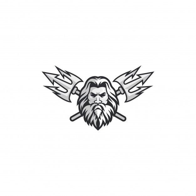 Poseidon logo concept Vector.