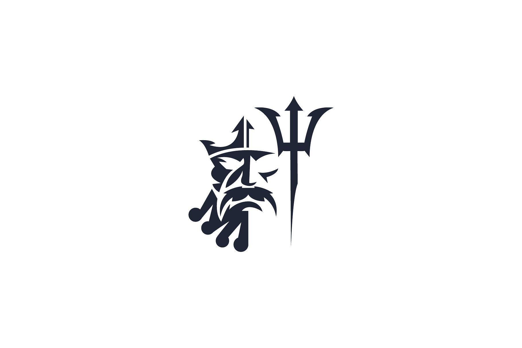 Poseidon logo god of water #layers#organized#highly#Ready.
