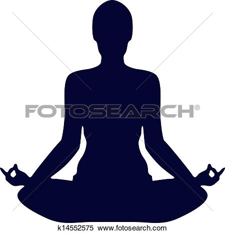 lotus position clipart #20