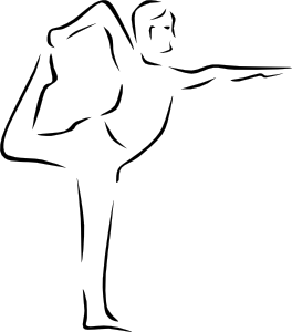 Yoga Poses Stylized clip art Free Vector / 4Vector.