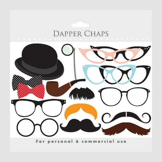 Moustache clipart, mustache clip art, eyeglass clipart, glasses.