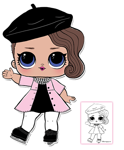 Posh Lol Doll Coloring Pages.