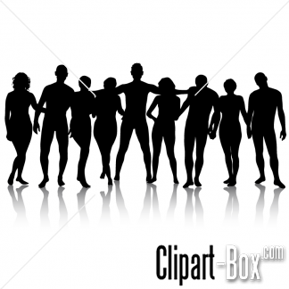 CLIPART GROUP POSING.