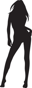 Sexy Woman Clipart Image.