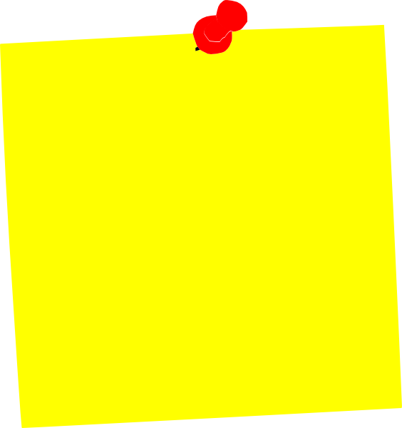 Word Post It Clipart.