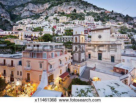 Pictures of Positano at dusk x11461368.