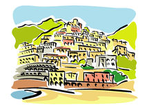 Amalfi Coast Stock Illustrations.