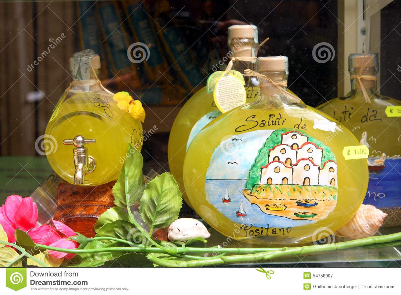Lemon Souvenirs Positano Italy Editorial Photography.