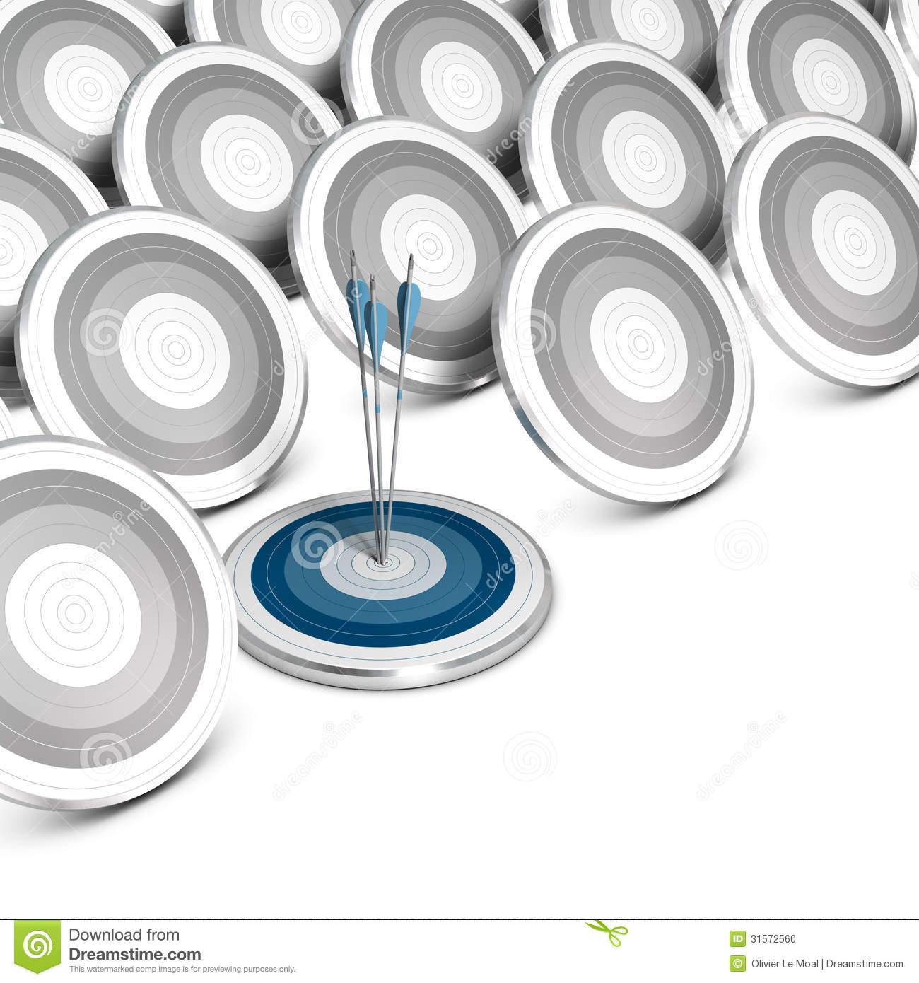 Market Segmentation, Targeting And Positioning. Stock Photo.