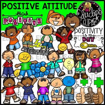 Positive Attitude Clip Art Bundle {Educlips Clipart}.
