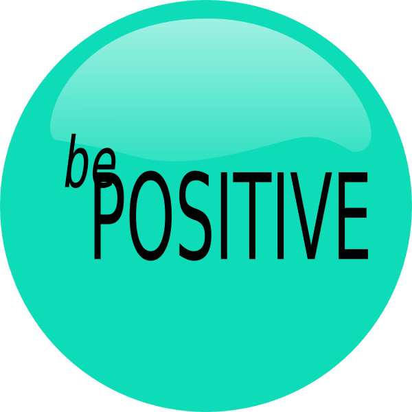 Be Positive Clip Art Vector.