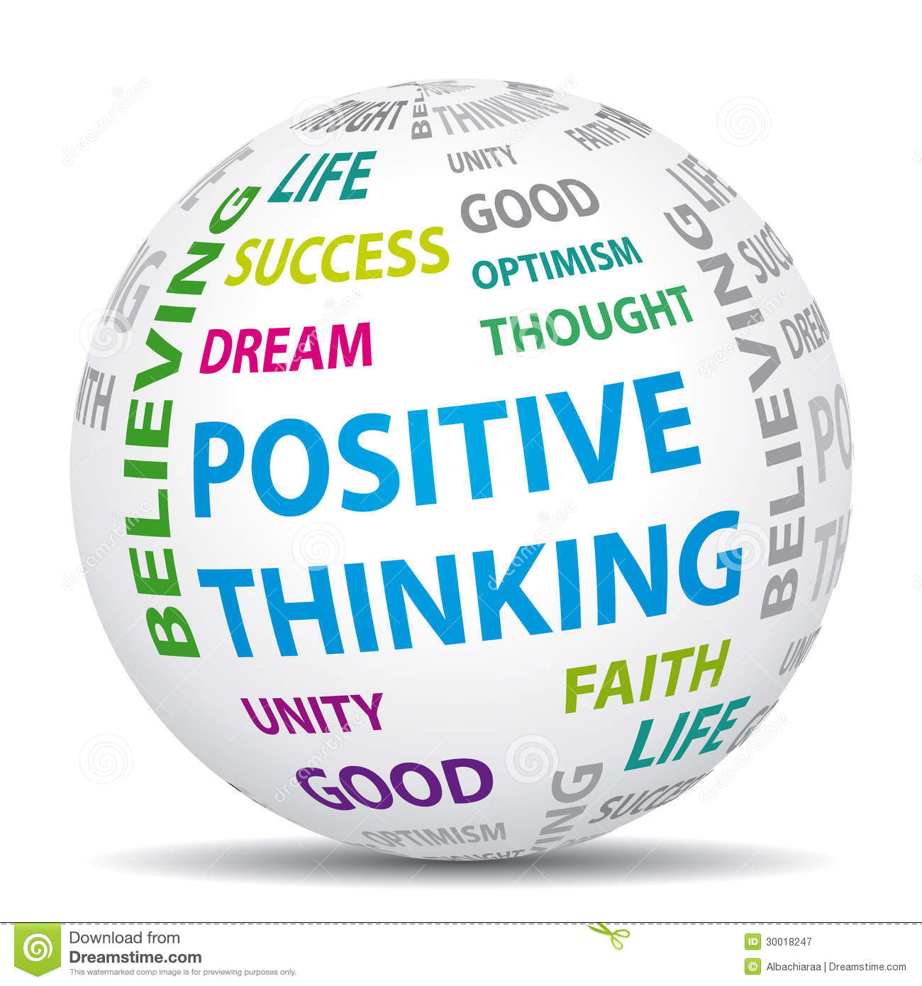 Positive Thinking Clipart.