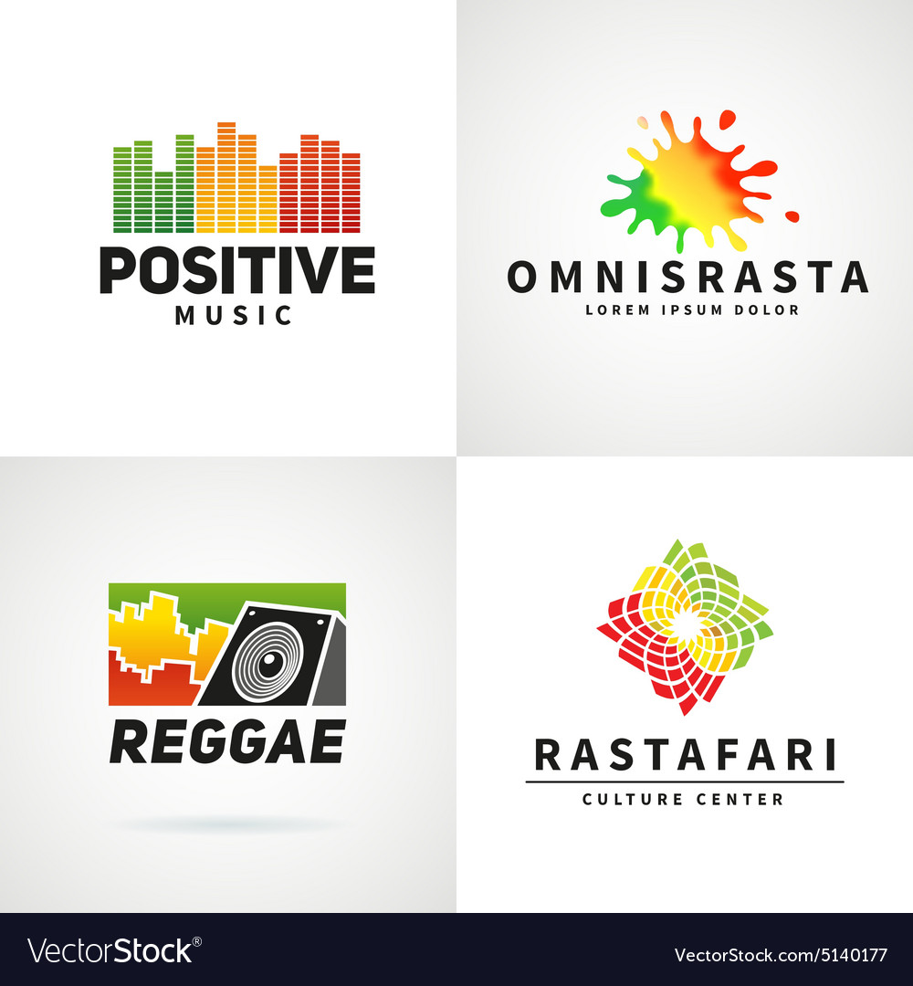 Set of positive africa ephiopia flag logo design.