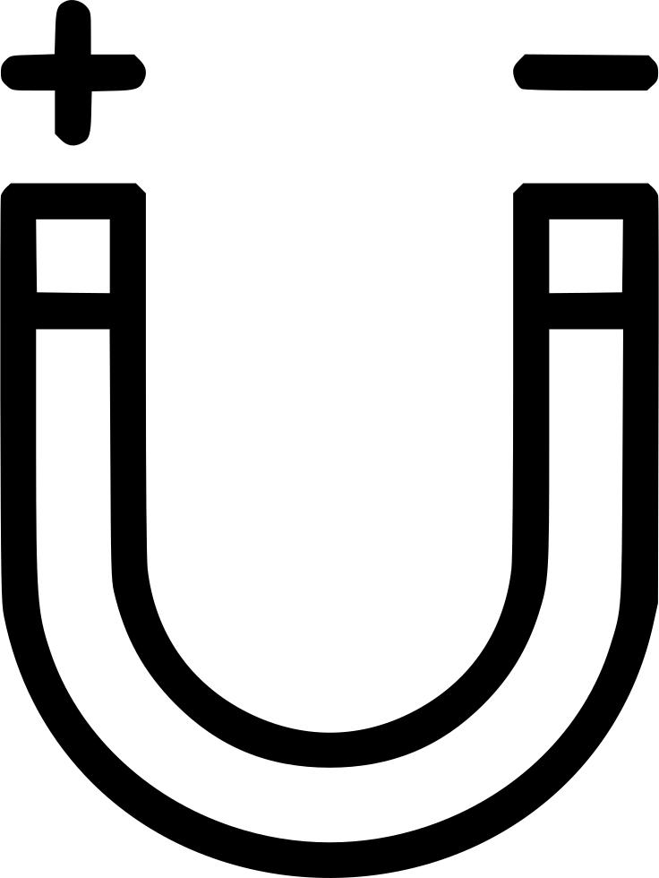 Horseshoe Magnet Positive Negative Charge Physics Svg.