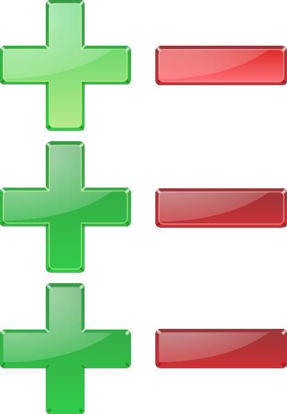 Positive And Negative Signs Clip Art at Clker.com.