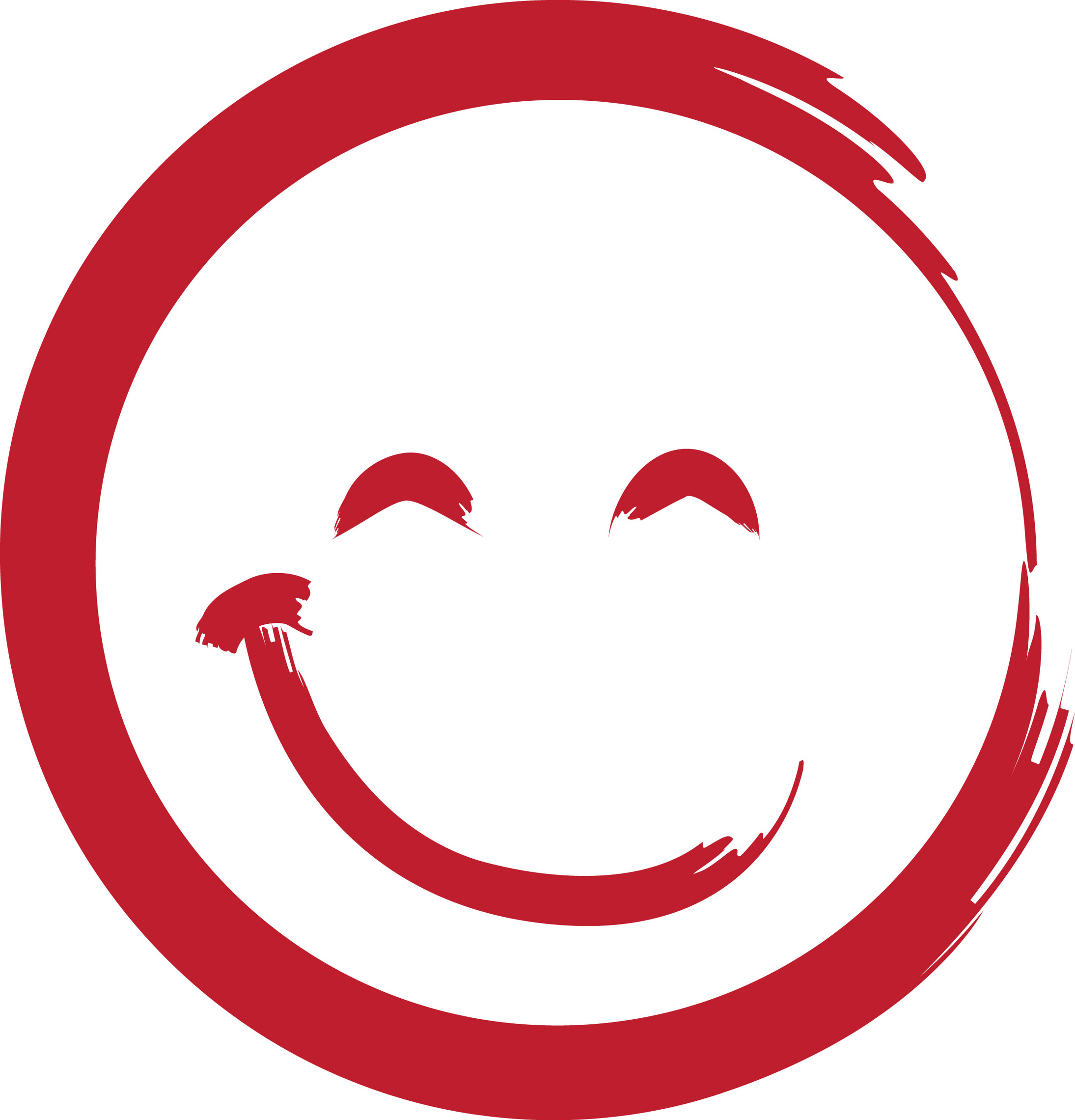 Red Smiley Faces Clip Art.