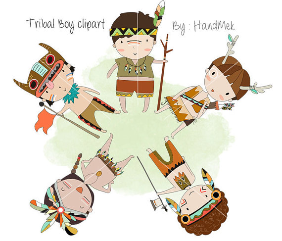 Tribal boy , boy Clipart Instant Download PNG file.