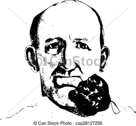 Clipart Vector of Melanotic sarcoma springing from the.