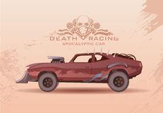 Rusty Vintage Car Desert Stock Illustrations.