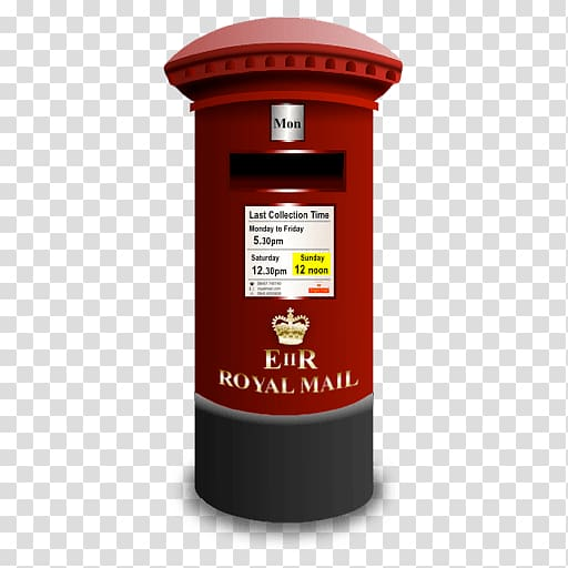 Red Royal Mail post, Royal Mail Post Box Icon transparent.