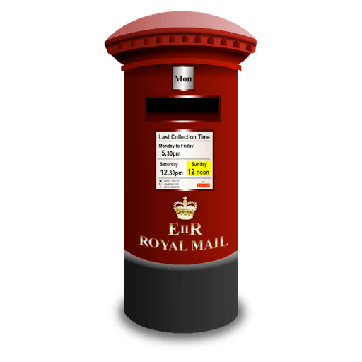 Royal Mail Post Box Icon transparent PNG.