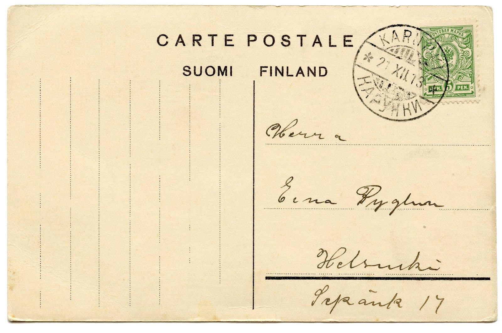 Postcard Clipart.