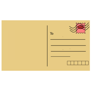 Indian Post Card Clip Art Download.