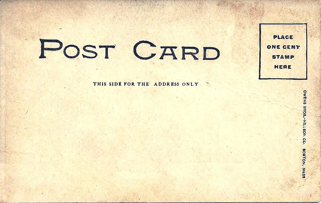 Vintage Postcard Clip Art.