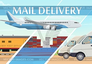 Mail delivery service, shipping logistics.