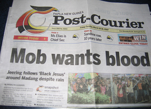 PNG: Acting PM accuses Murdoch daily of trying to oust him.