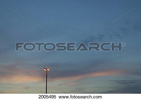 Stock Image of Lamp Post Against Sky At Dusk 2005495.