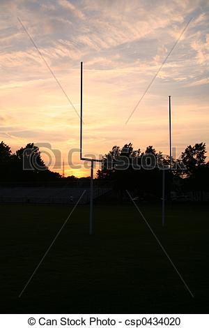 Stock Photography of Football Goal Post at Dusk csp0434020.