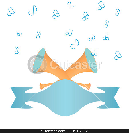 Post Horn. The pipe is calling stock vector.