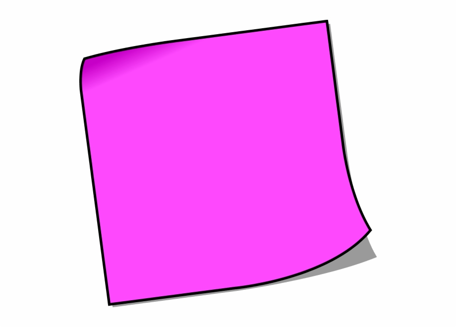 Note Sticky Post It Notes Clipart Free Images Transparent.