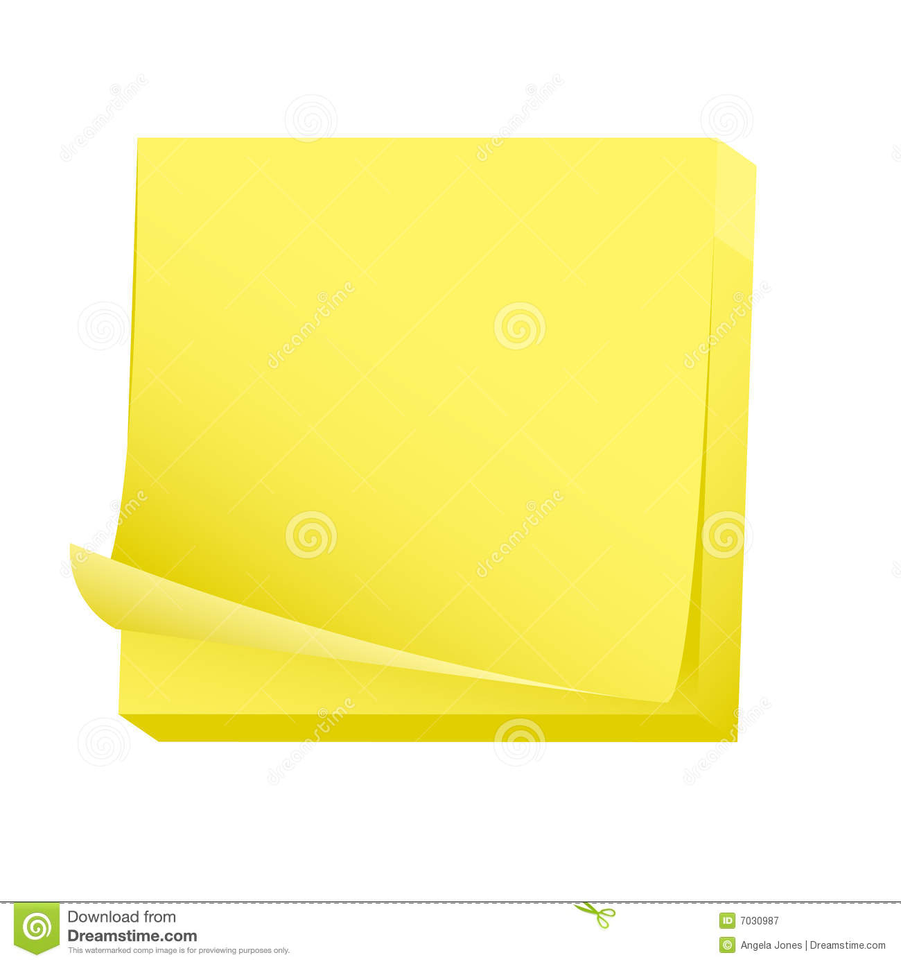 Blank Post It Clipart.