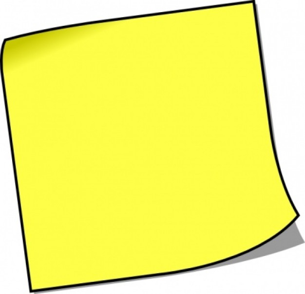 Post It Notes Clipart.
