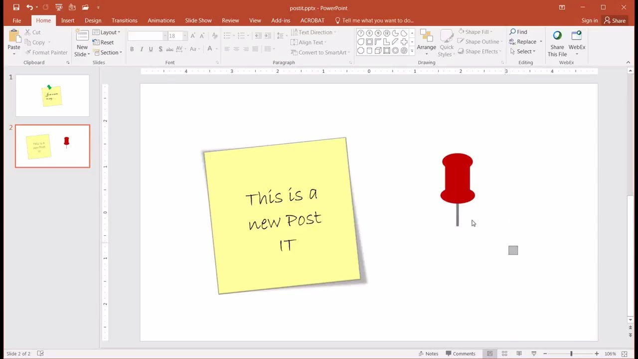 Create a Post it Note Effect.