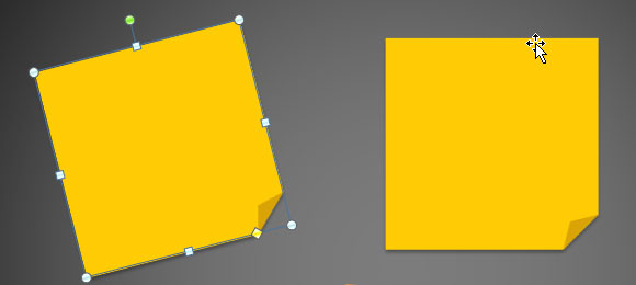 How to Create 3M Post It Images using PowerPoint 2010 and Shapes.