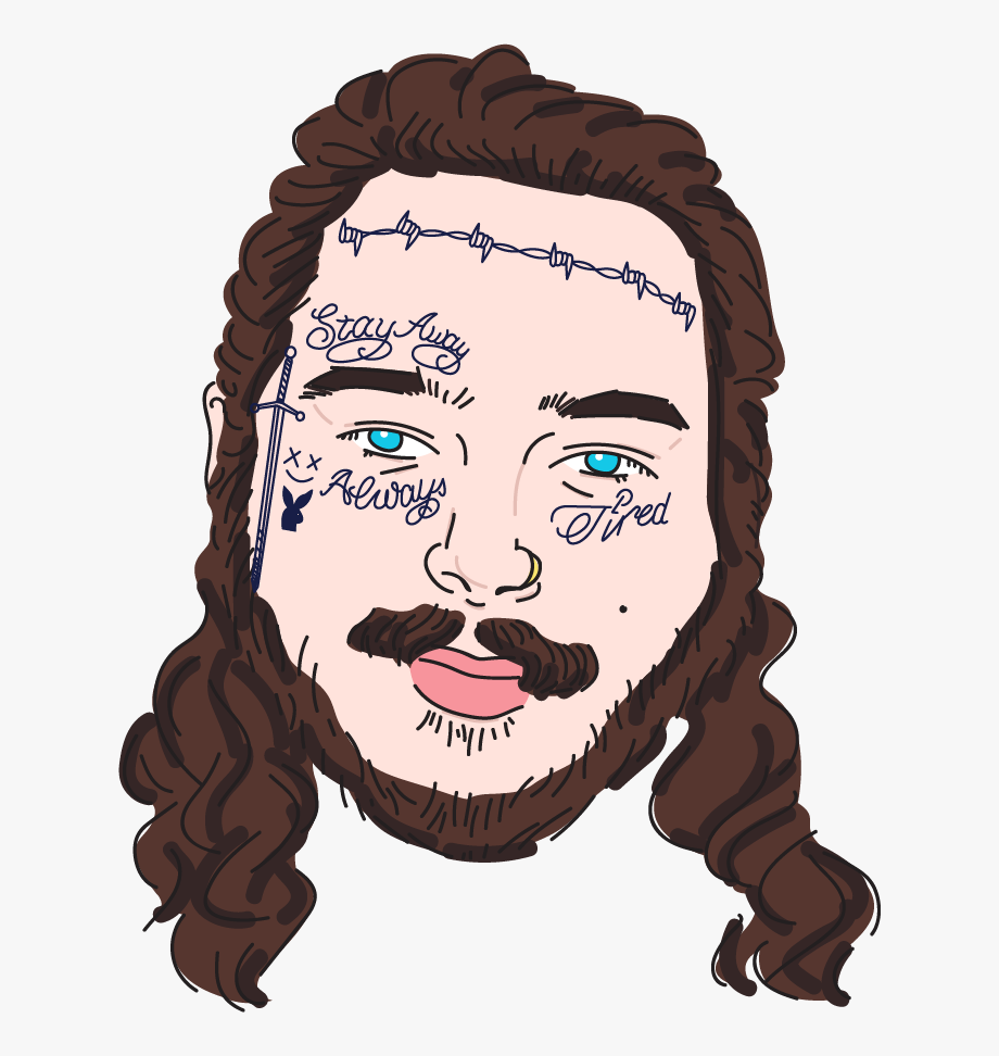 Click Posty\'s Face To Buy His Tattoos.